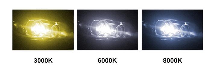 xenon lichtkleuren